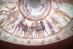 Affreschi in tomba del re di Thracian fotografia stock libera da diritti