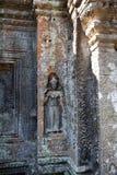 Affresco Angkor Wat/Angkor Thom Le rovine antiche di uno storico Immagine Stock