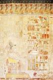 Affresco antico con Anubis Fotografia Stock