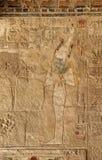 Affresco antico con il pharaoh Immagini Stock Libere da Diritti