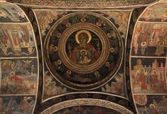Affresco antico del monastero di Stavropoleos Fotografia Stock