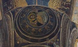 Affresco antico del monastero di Stavropoleos Immagine Stock