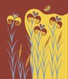 Affresco antico di Minoan dei gigli illustrazione vettoriale