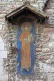 Affresco antico di St Francis Immagini Stock Libere da Diritti
