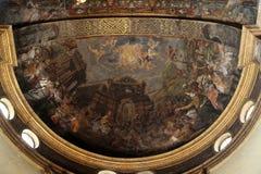 Affresco in basilica Santa Maria della Steccata, Parma Immagini Stock Libere da Diritti
