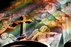 Affresco in chiesa Santa Maria dentro Fotografia Stock