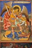 Affresco del Michael di arcangelo Fotografia Stock