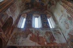 Affresco del monastero di Gelati fotografia stock libera da diritti
