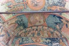 Affresco del soffitto al monastero di Kirillo-Belozersky Fotografia Stock Libera da Diritti