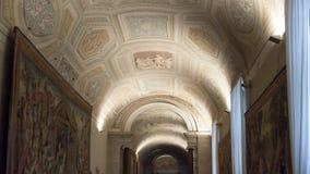Affresco del soffitto arcato del Vaticano - Roma Fotografia Stock