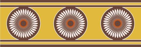 Affresco della pittura dell'ornamento del fiore di Minoan illustrazione vettoriale