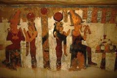 Affresco della tomba a Luxor, Egitto, Africa fotografia stock