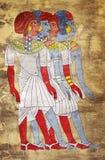 Affresco delle donne dell'Egitto antico fotografia stock