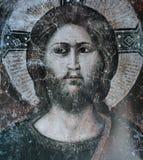 Affresco in Di Santa Cecilia della basilica in Trastevere, Roma, Italia Immagini Stock Libere da Diritti