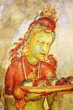 Affresco di Sigiriya immagine stock