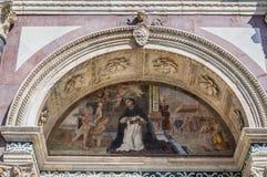 Affresco esteriore della basilica di Santa Maria Novella, Firenze Fotografie Stock