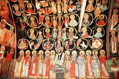 Affresco in monastero bulgaro Fotografie Stock