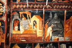 Affresco in monastero bulgaro Fotografia Stock Libera da Diritti