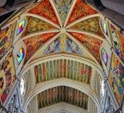 Affresco murale ad Almudena Cathedral Fotografie Stock Libere da Diritti