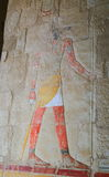 Affresco nel tempio di Hatshepsut Fotografie Stock
