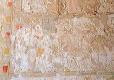 Affresco nel tempio di Hatshepsut Immagine Stock Libera da Diritti