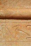 Affresco nel tempio di Hatshepsut Immagine Stock