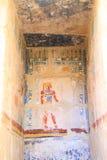 Affresco nel tempio di Hatshepsut Immagini Stock Libere da Diritti