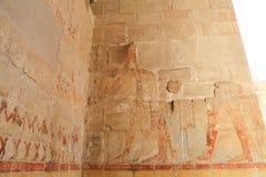 Affresco nel tempio di Hatshepsut Fotografia Stock