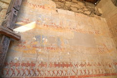 Affresco nel tempio di Hatshepsut Fotografia Stock Libera da Diritti