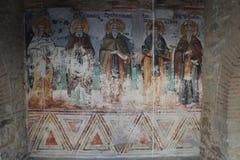 Affresco ortodosso in Athos Fotografie Stock Libere da Diritti