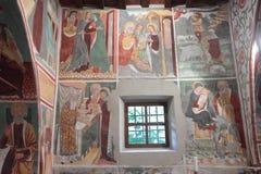 Affresco santo di secolo della famiglia XV Immagini Stock