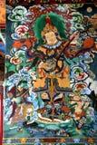 Affresco sulla parete del monastero Fotografia Stock