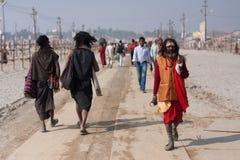 Affrettare indiano dei credenti fotografie stock libere da diritti