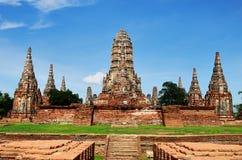 Affrontez la taille du chaiwattanaram de Wat Photo libre de droits