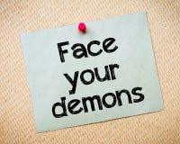 Affronti i vostri demoni Fotografie Stock Libere da Diritti