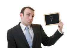 affärsfläckfråga Arkivfoton