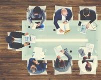 Affärsfolk som möter diskussionen företags Team Concept Arkivfoto