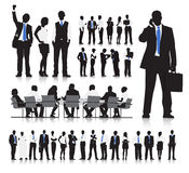 Affärsfolk som möter vektorn Arkivbilder