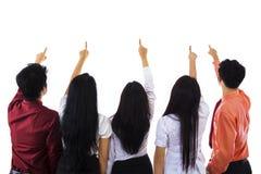 Affärsfolk som pekar på något Royaltyfri Fotografi