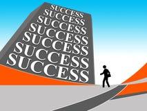 Affärsfolket går in mot framgång Arkivbild