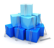 Affärsframgång, ledarskap och konkurrensbegrepp Arkivfoto