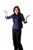 affärsgyckelkvinna Royaltyfri Fotografi