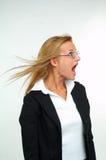Affärskvinna och skräck Royaltyfri Foto