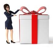 Affärskvinna - tecken Arkivfoto