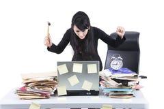 affärskvinnan frustrerade Arkivbild