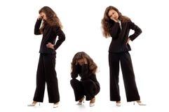 affärskvinnasinnesrörelser som uttrycker negativen Arkivbild