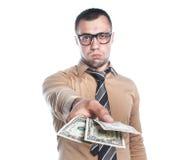 Affärsman med pengar Royaltyfri Bild