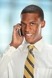 Affärsman Using Cell Phone Arkivfoto