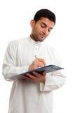 affärsmanperson som tillhör en etnisk minoritetworking Royaltyfri Bild