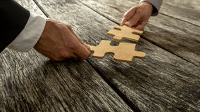 Affärspartnerskap eller teamwork Royaltyfria Bilder